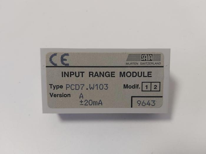 Input range module, PCD7.W103, Saia neu