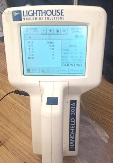 Used LIGHTHOUSE 3016 HAND HELD PARTICLE COUNTER