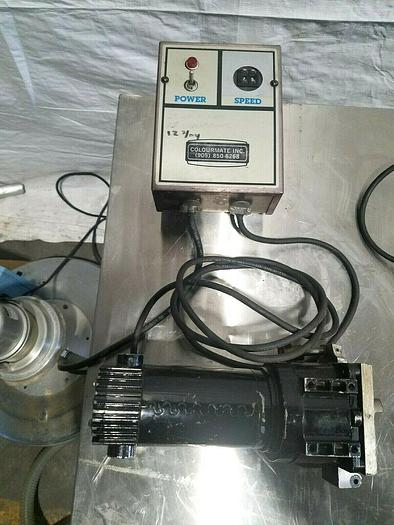 Used Minarik Colourmate DC Drive Motor with Speed Controller 110V AC 90V DC 1/8 HP