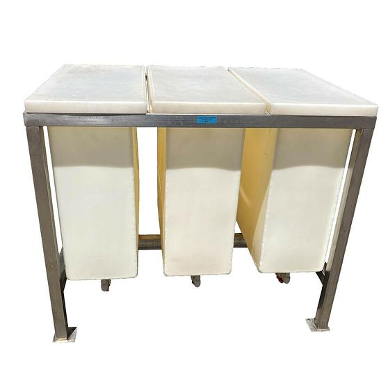 Used Semiconductor Wash Station Chrome Plating Cleaner 3 Sections USED (8967) R