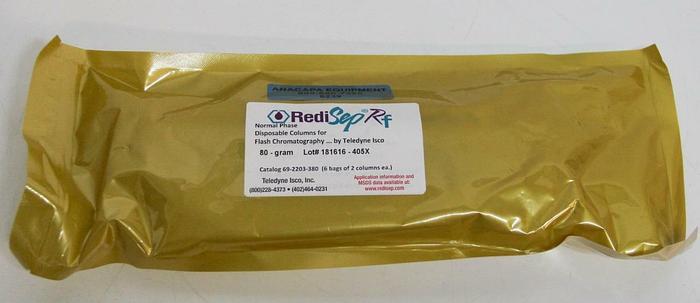 Teledyne Silica RediSepRF Normal Phase 80g Flash Chromatography Column LOT 6239