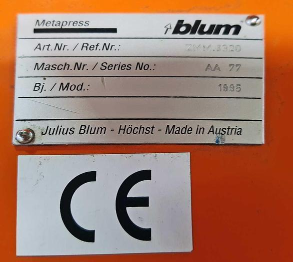 1995 BLUM Blum METAPRESS ZMM 3320