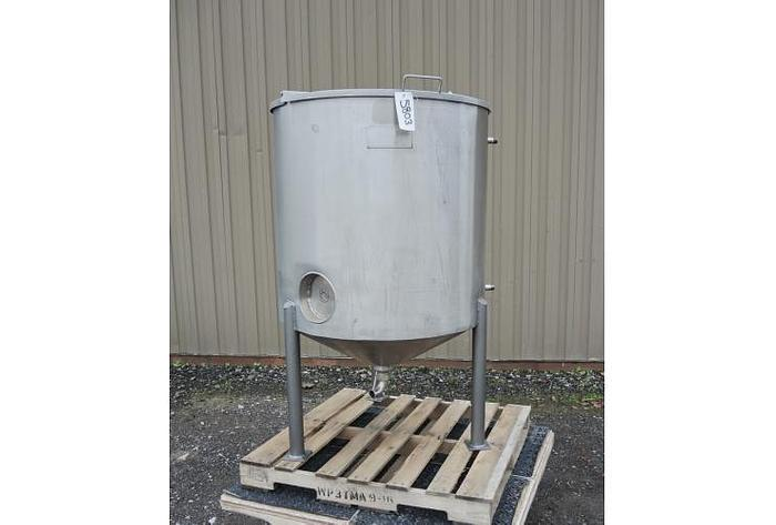 USED 125 GALLON JACKETED TANK, STAINLESS STEEL