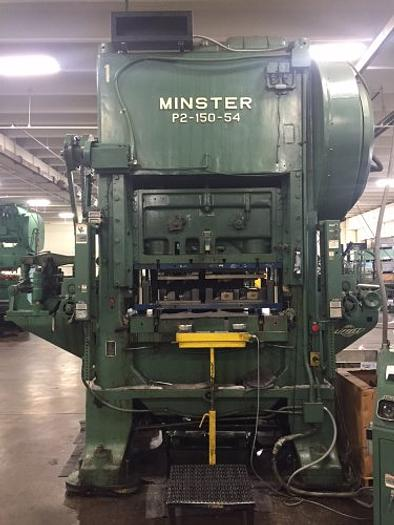 "150 ton P2 Minster 54""x40"" Used Stamping Press"