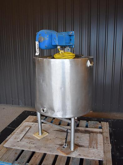 Used USED 25 GALLON TANK, STAINLESS STEEL, WITH MIXER