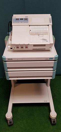 Gebraucht Philips Workstation mit M1353A Fetalmonitor und  M1323A WagenCL