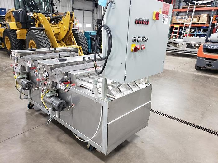 Used Used UBE 4 Lane Band Slicer, comes with (2) slicers, one for operation and one for backup
