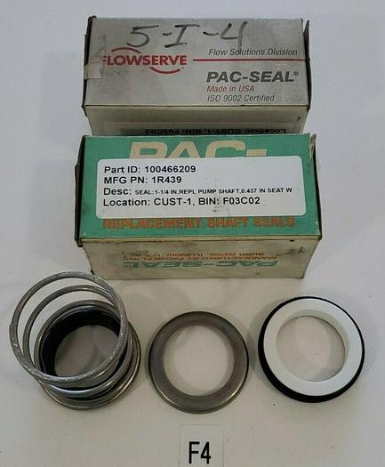 *NEW IN BOX* LOT OF 2 Flowserve Pac-Seal 1R439 Shaft Seals + Warranty!