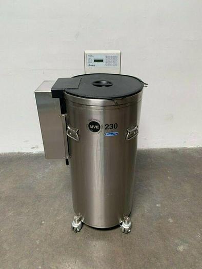 Used CHART MVE 230F Liquid Nitrogen Cryogenic Storage Tank w/ TEC 2000