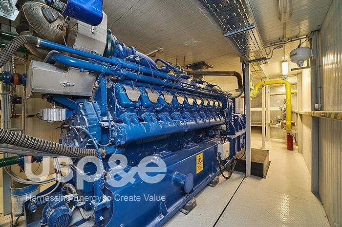 Used 2 MW 2014 Used MWM TCG2020V20 Natural Gas Generator USP009443