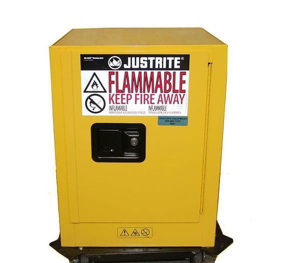 Used JustRite 890400 Sure-Grip Flammable Liquid Storage Cabinet 4 Gallon (6607)W