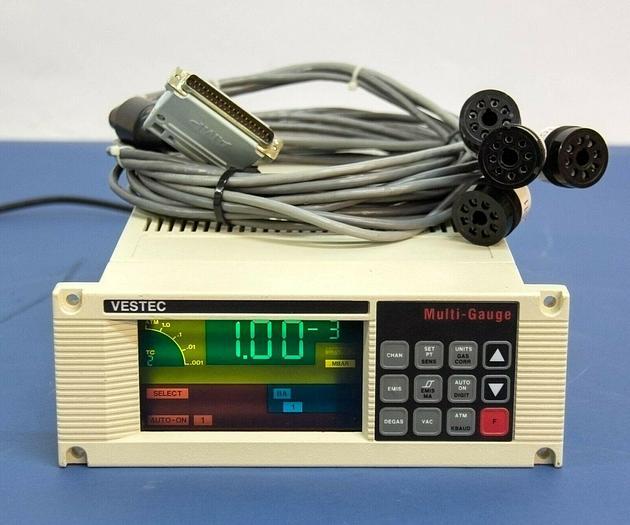 Used Varian Vestec LR88590 Multi-Gauge Controller Vacuum Gauge w/ Cable USED (7382)R