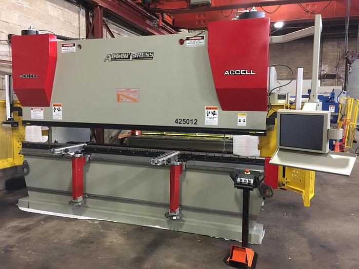 """250 TON X 12', """"NEW"""" ACCURPRESS, CNC HYDRAULIC PRESS BRAKE MODEL ACCELL 425012 - IN STOCK"""