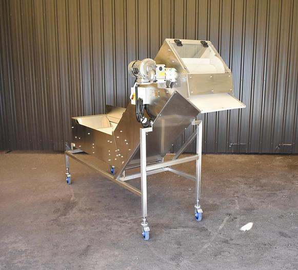 Used USED TRIO-PAC ELEVATED CLEATED BELT CONVEYOR, 16'' WIDE X 84'' LONG