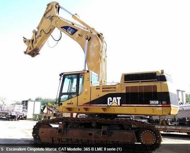 Usata 2002 Escavatore cingolato, CATERPILLAR 365 B LME II serie