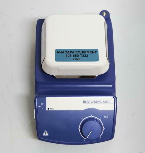 """Used Ika C-MAG MS-4 S1 Magnetic Stirrer 4"""" Ceramic Plate w/ Power Cord USED (7020) R"""