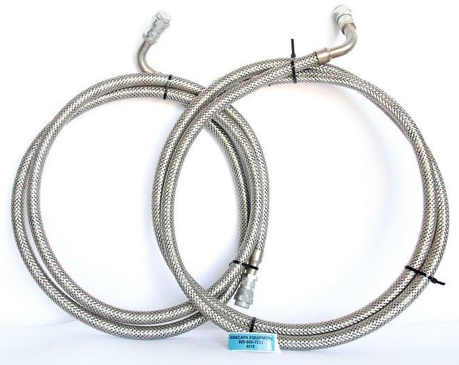 Used CTI-Cryogenics 10' Helium Supply and Return Line, SS Lot of 2 (8019)W