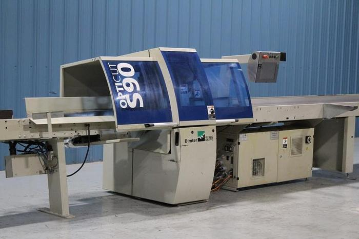 Used Dimter Model Opticut S90 Speed Optimizing Cross-Cut Saw