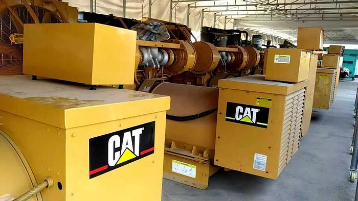Used Caterpillar 3512 generator set 50 hz with Radiator