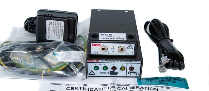 SCS 724 Continuous WorkStation Monitor ESD, Power Adapter, SCS-732 New (7620)