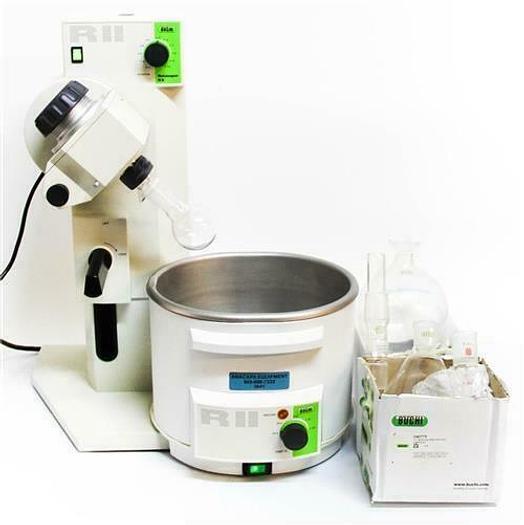 Used Buchi Rotovapor R-II w/ R-II-HB RII Bath & Glassware Tested Working 115V (5641)c