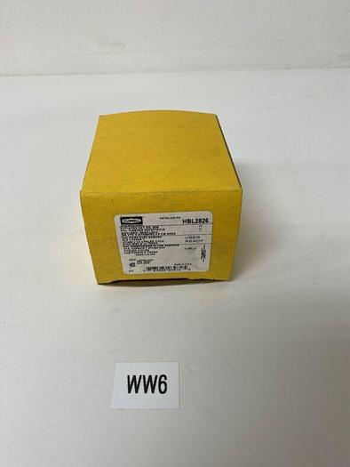 HUBBELL HBL2826 Twist Lock Flanged 30A 480V Receptacle Warranty Fast Shipping