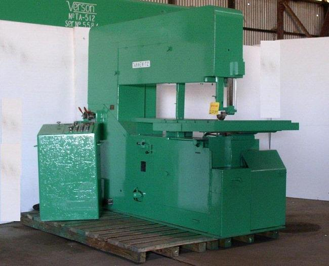 "Used 64"" Tannewitz Model 60MH Vertical Band Saw; S/N 13999"