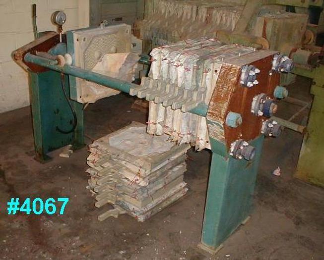 Used 3 CU. FT. NETZSCH FILTER PRESS – POLYPRO. – 470 MM