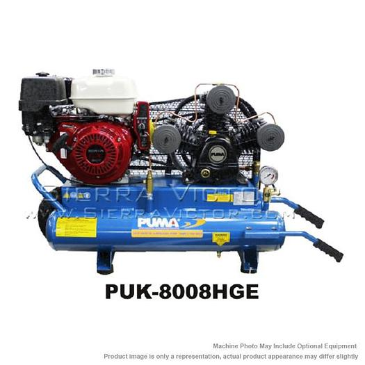 PUMA 8 HP Professional/Commercial Gas-Powered Air Compressor PUK-8008HGE