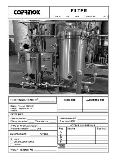 Usata Impianto filtrazione FILTROX completo