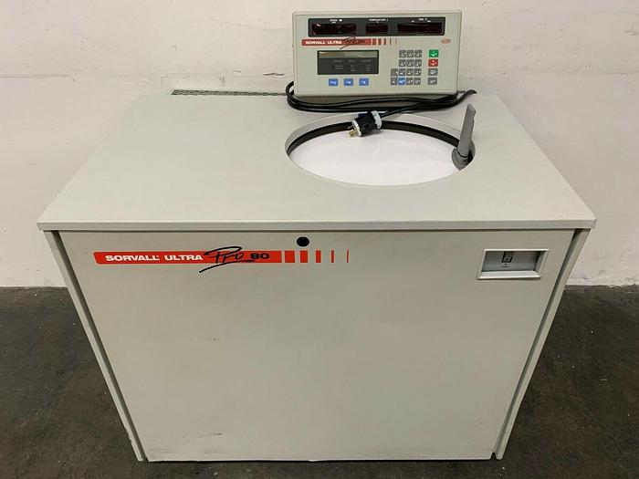 Used Sorvall Ultra Pro 80 Digital Refrigerated Centrifuge 200-240V Max RPM 80,000