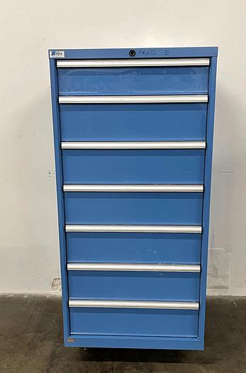 Used Lista 1 Row 7 Drawer Storage Cabinet  Various Drawer Sizes