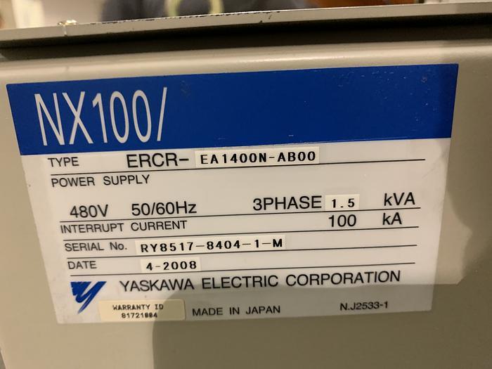 MOTOMAN SSF2000 (YR-SSF6-A00) 6 KG X 1,378mm REACH 6 AXIS CNC ROBOT WITH NX100 CONTROL