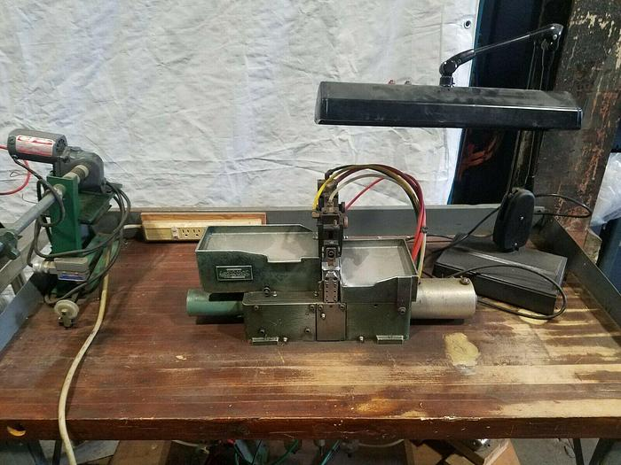 Used Link O Matic Link Making Machine #2 Jewelry Linking Pneumatic makes links