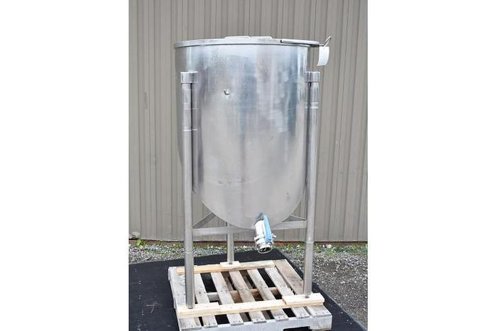 USED 120 GALLON TANK, STAINLESS STEEL