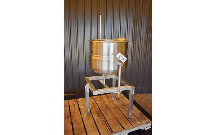 USED 20 GALLON JACKETED TANK (TILTING KETTLE), STAINLESS STEEL