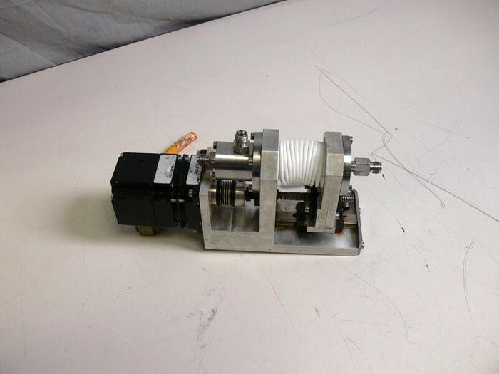 Used Berger Lahr VRDM 564/50 LNC Motor w/ Sensor & Linear Motion Press Assembly
