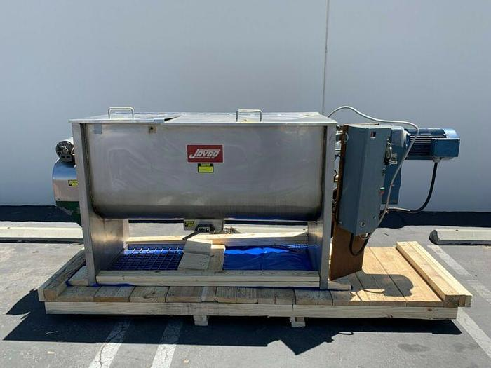 Used Jaygo 20 Cu Ft  Stainless Steel Ribbon Blender w/ 7.5 HP Motor