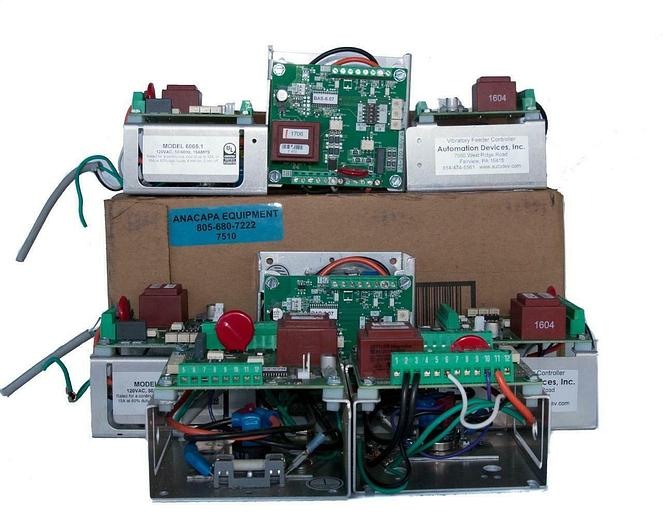 Used Automation Devices 6005.1 Internal Vibratory Feeder Controller LOT of 8 (7510)W