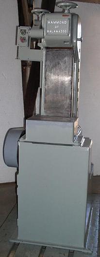 "Used 8"" HAMMOND ON KALAMAZOO MDL. V-8-D ABRASIVE BELT GRINDER; S/N 9140"