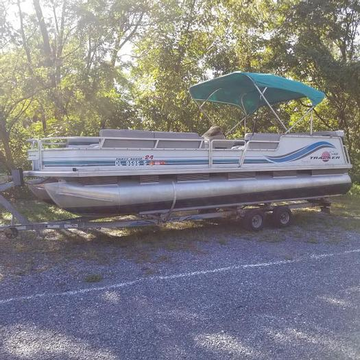 Used Used 1996 Bass Tracker Party Barge 24