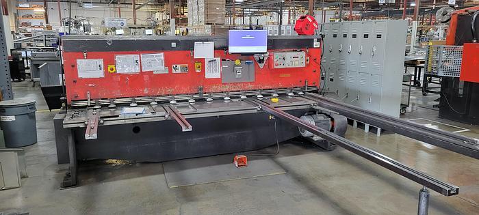 "Used 1993 10'X1/4"" Amada M-3060 CNC Power Squaring Shear"