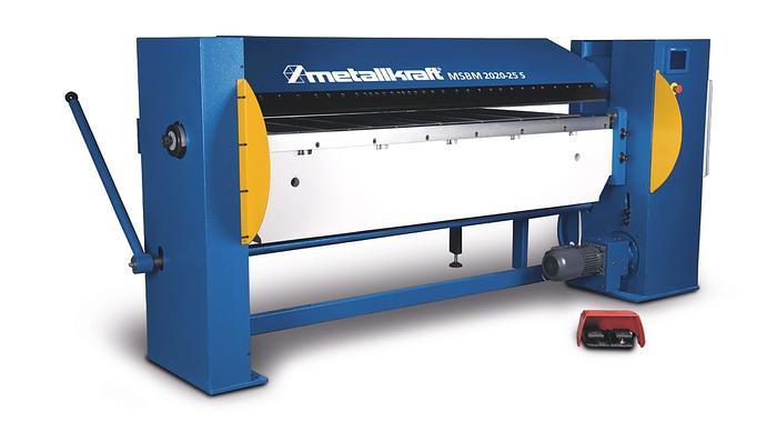 2020 Metallkraft MSBM 2020-25S halbmotorische Schwenkbiegemaschine mit segmentierter Oberwange