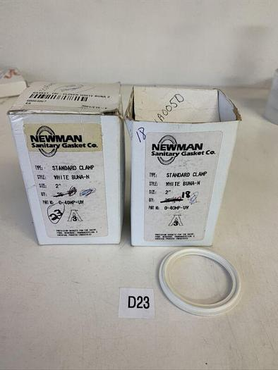 """Newman Sanitary Gasket 40mp-uw Standard Clamp White 2"""" Qty. 41 Fast Shipping!"""