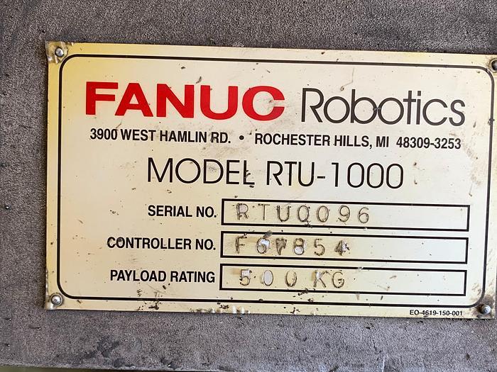 Used FANUC RTU-1000 7TH AXIS ROBOT TRACK 500KG X 13' TRAVEL