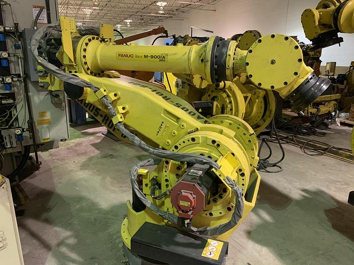 Used FANUC M900iA/350 6 AXIS CNC ROBOT WITH R30iA CONTROLLER (70) UNITS AVAILABLE 350KG X 2650mm REACH