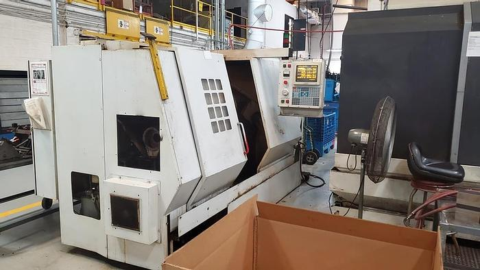 """Used 1996 HAAS CCNC Lathe HL 4, 24"""" Swing, 9.5"""" Swing over slide, 30 HP, 3400 RPM, 3""""  Bore, 12 Position Turret, HAAS CNC"""