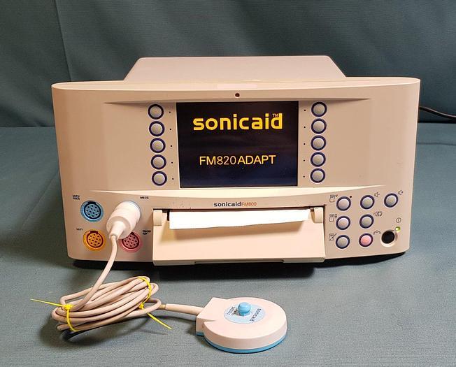 Gebraucht Huntleigt Sonicaid FM 800 Fetal Monitor Modell+  ULT1, ULT2 MECG und Toco/IUP Optionen, MECG Sonde