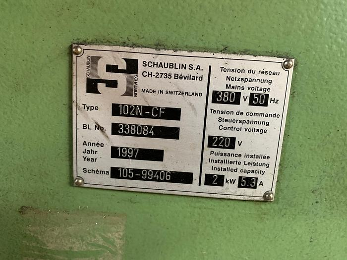 Tornio Parallelo SCHAUBLIN 102 N-CF