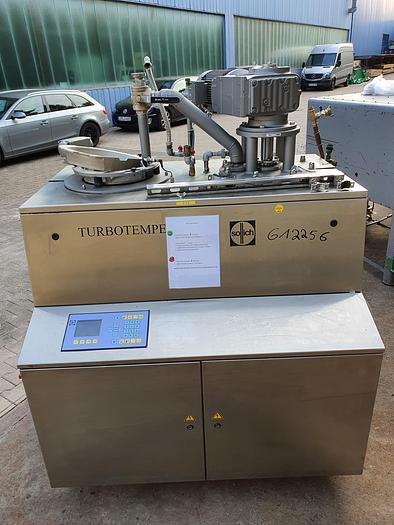 Gebraucht gebr. Scheibentemperiermaschine SOLLICH Type TC-350-B mit Behälter, Baujahr 2002.